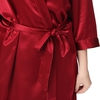 Claret Plus Size Silk Dressing Gown