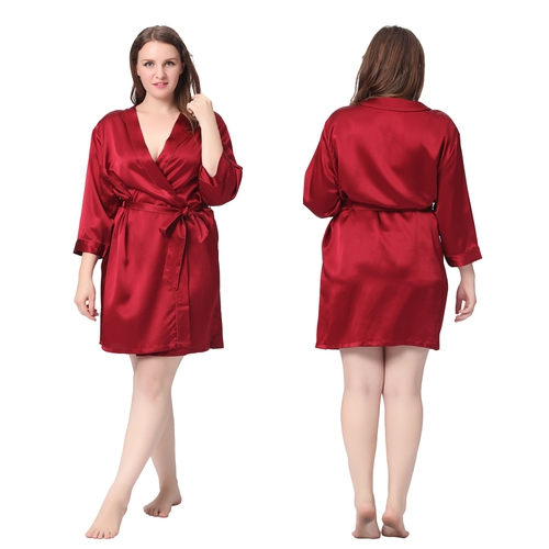 Claret Plus Size Dressing Gown