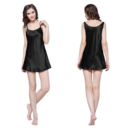 Black Silk Nightgown