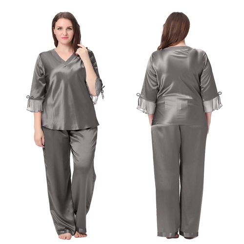 Beige Plus Size Pajama