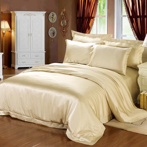 Gold Silk Duvet Cover