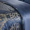 Ocean Blue غطاء اللحاف من الحرير