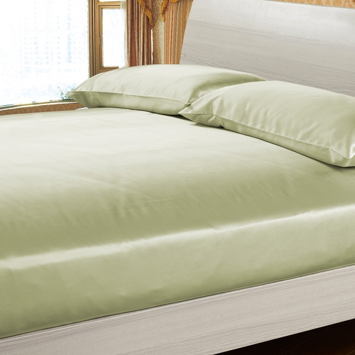 Verde Suave Silk Fitted Sheet