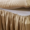 Bright Coffee Silk Bed Skirt