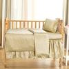 Soft Yellow Silk Crib Bedding
