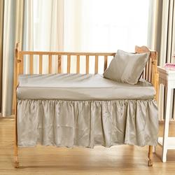 Silk Cot Bedskirt