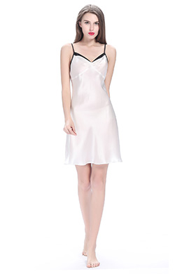 Women Short Silk Nightdress