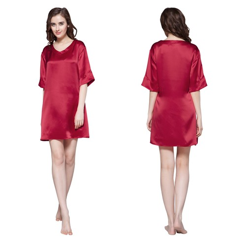 Claret women silk nightdress