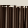 Chocolate Silk Curtain