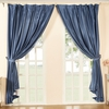 Ocean Blue Silk Curtain