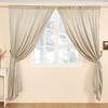 Bright Coffee Silk Curtain
