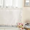 Ivory غطاء الوسادة من الحرير