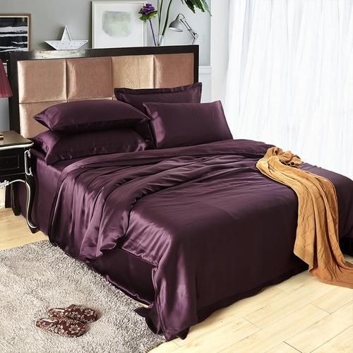 Purple Silk Bedding