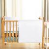 White Silk Crib Bedding
