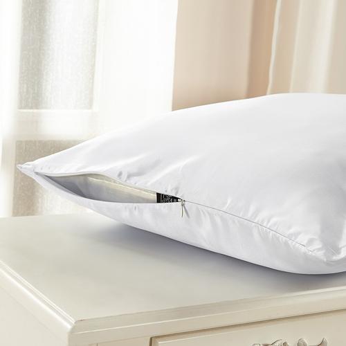 White غطاء الوسادة من الحرير