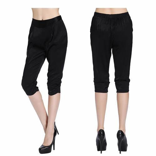 Black Silk Pant