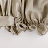 Taupe قبعة النوم من الحرير