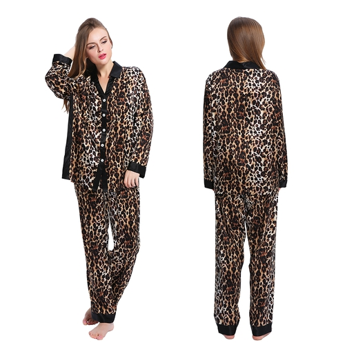 Leopard Women Silk Pyjamas