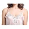 Light Pink Women Silk Nightgown