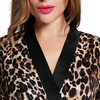 Leopard Women Silk Robe