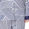 Blue & White Stripe Plus Size Silk Pajama