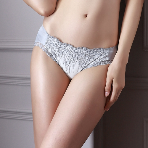 Silver Blue Silk Knickers