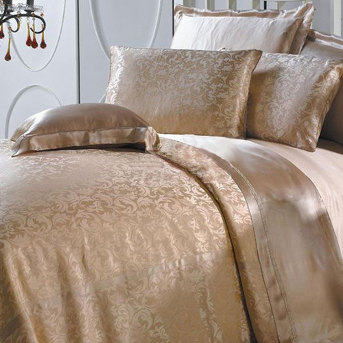Coffee Silk Bed Linen Set