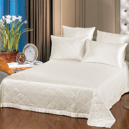 Ivory Silk Coverlet