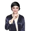 Black قبعة النوم من الحرير