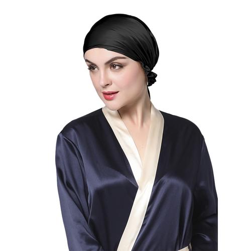 Negro  Silk Sleep Cap