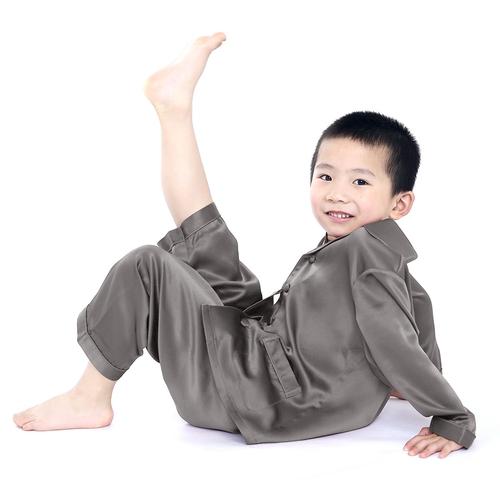 White Boys Silk Pyjamas