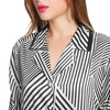 Black & White Stripe Women Silk Pyjamas