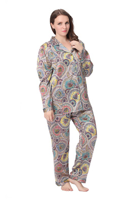 Plus Size Silk Pyjamas