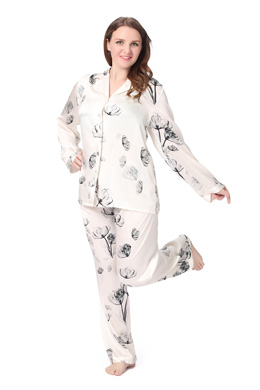 Plus Size Silk Pajamas