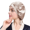 Coffee Silk Sleeping Cap