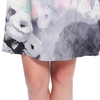 Floral Ink Painting- Gray women silk nightdress