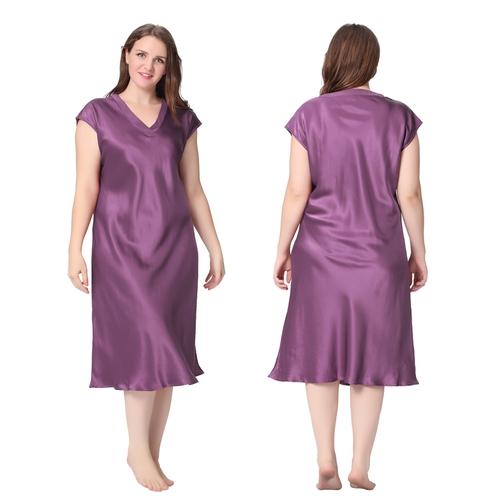 Violett Seide Nachthemd