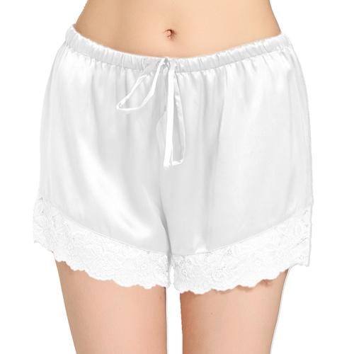 Weiß Seide Hose