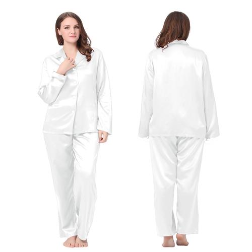 Weiß Seide Pyjamas