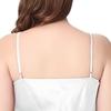 Weiß Seide Nachthemd