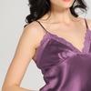 Violett Seide Top