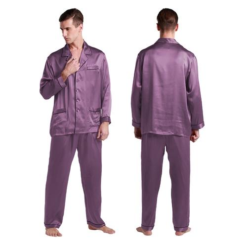 Violett Herren Seide Pyjamas