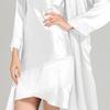 Weiß Damen Seide Nachthemd