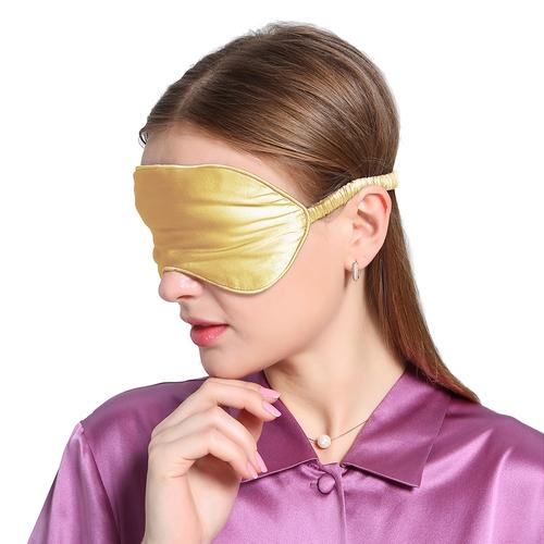 Gold Seide Augenmaske