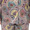 Blüte Muster Gelb & Grün Seide Pyjamas