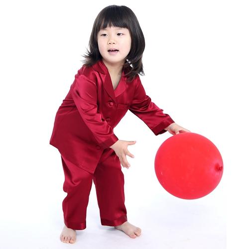 Weiß Mädchen Seide Pyjamas