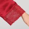 Rouge Vineux Robe de Chambre Pyjama Soie Femme