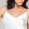 Blanc Chemise de Nuit Soie