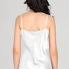Bianco Camicia da notte di seta donna