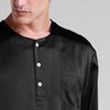 Noir Pyjama Homme Soie
